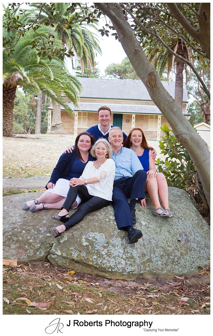 Extended Family Portrait Photography Sydney Multi Generation photographs at Carss Bush Park Sydney